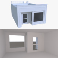 store interior buildings 3d model