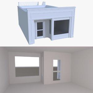 store interior buildings 3d model