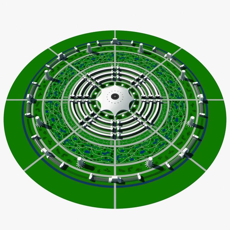 circular city 3d model