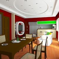 3d interior model