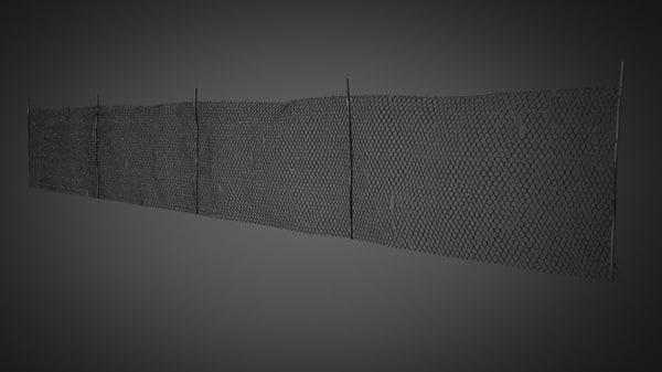 mesh fence 3d x
