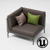 3d dedon mu chair ue4 model