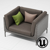 3d model dedon mu chair ue4