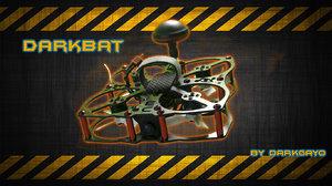 darkbat 86mm quadcopter 3d model