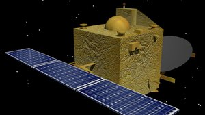 mangalyaan space craft 3d model