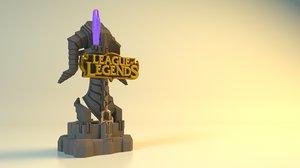 3d model league legends tower