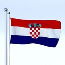 Croatia flag 3D models