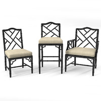 chippendale chair set 3ds