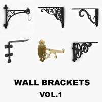 wall brackets 3d max
