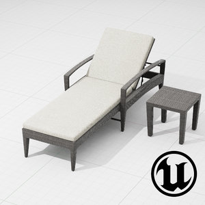 dedon panama lounge ue4 3d fbx