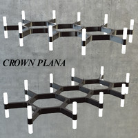 3d model chandelier crown plana