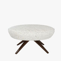 3ds vladimir kagan swivel ottoman