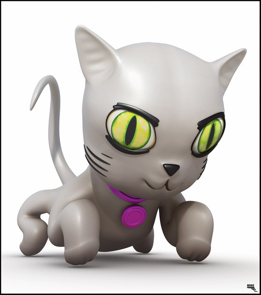 free fbx mode cat cartoon