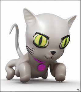 free fbx mode cat cartoon