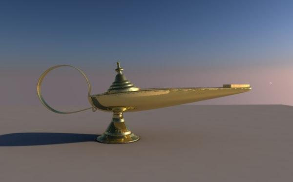 c4d wonderful lamp