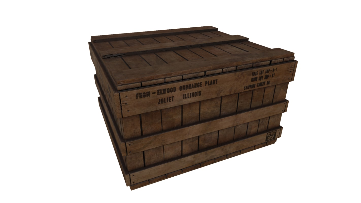 wooden crate pbr max