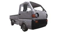 PBR lowpoly minitruck