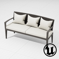 3d model dedon panama sofa