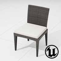 3d model of dedon panama chair ue4