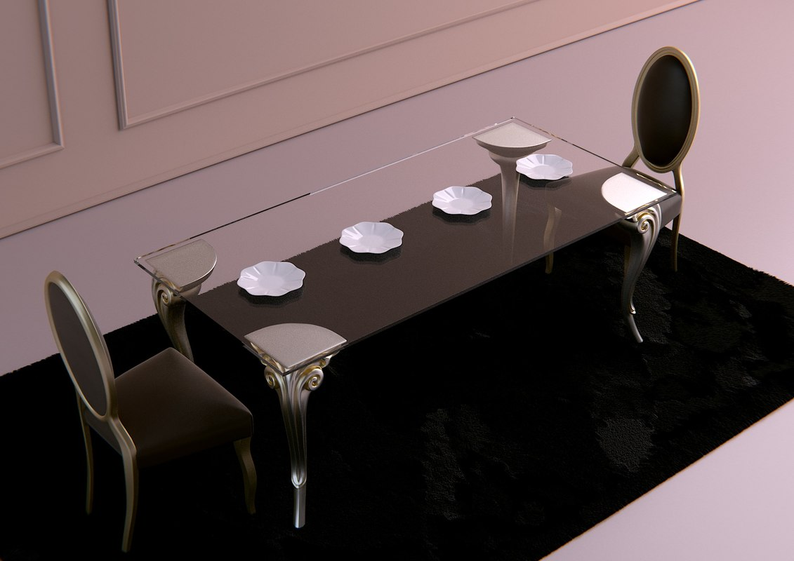 dinner table armonia cortezari 3d fbx