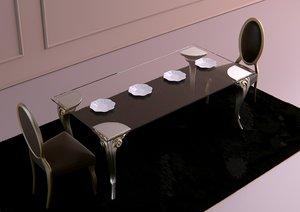 dinner table armonia cortezari 3d fbx