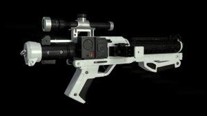 blaster star wars 3d model