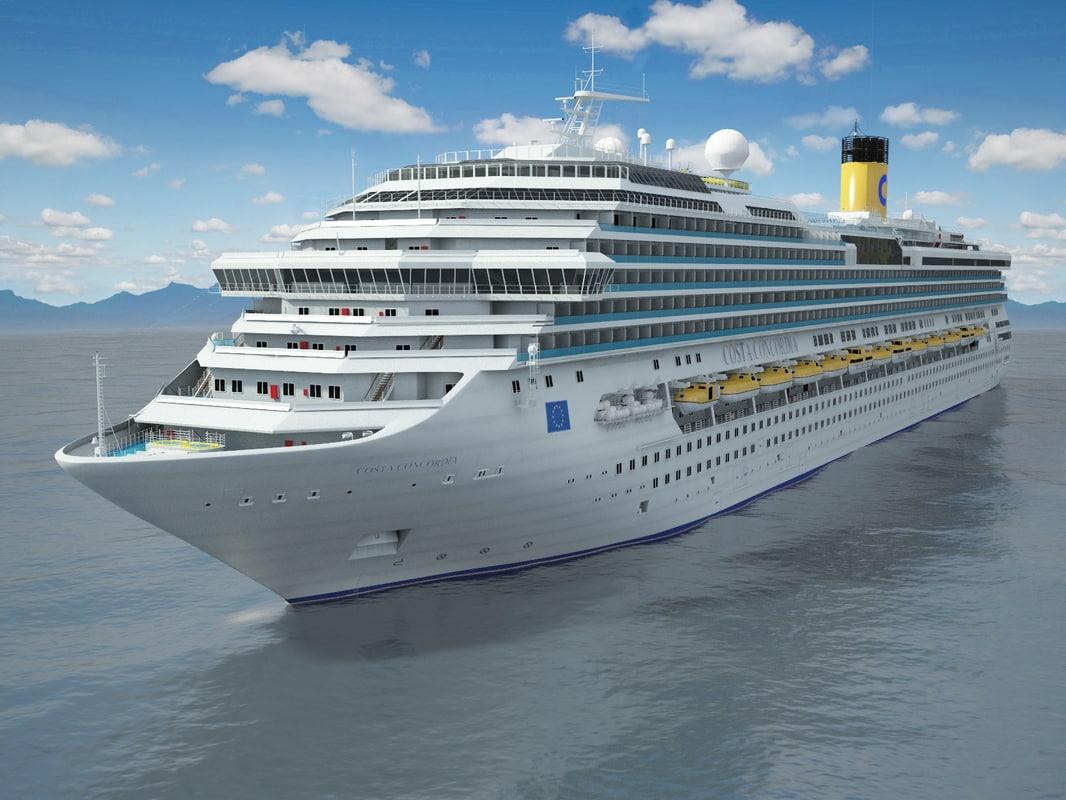 3d lwo costa concordia cruise