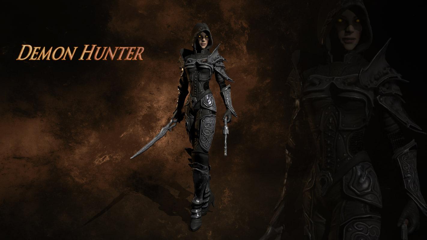 3d model demon hunter