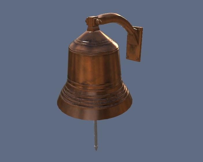 3d model bell pbr