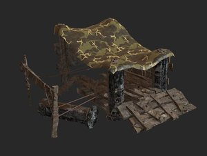 3d camp quixel ready model