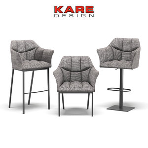 3d model chairs kare