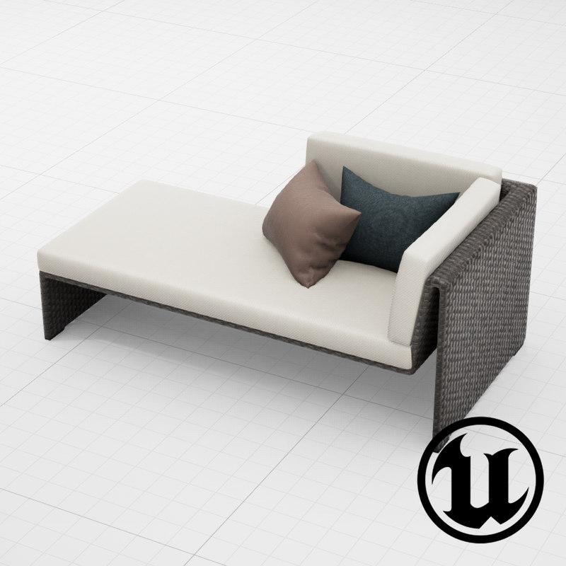 fbx dedon slimline lounge chair