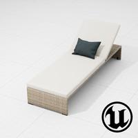 3d dedon slimline lounge ue4