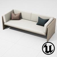 dedon slimline sofa ue4 fbx
