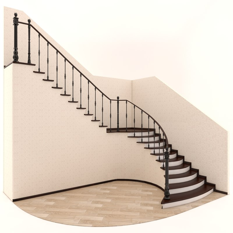 forged stair 3d max