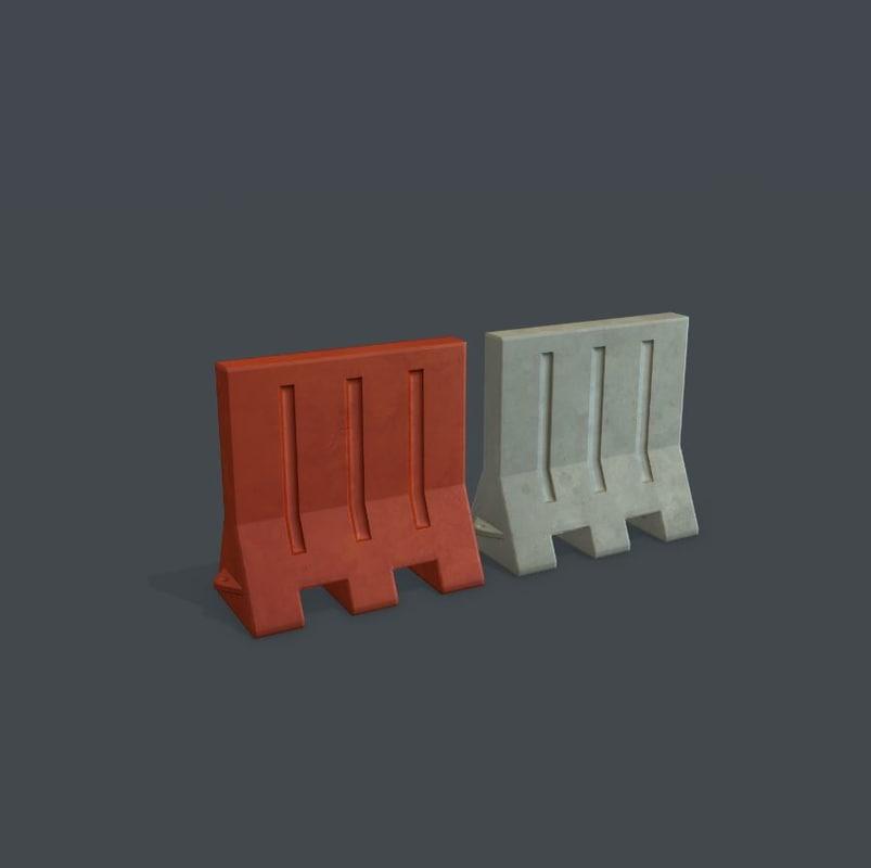 3d model of traffic barrier
