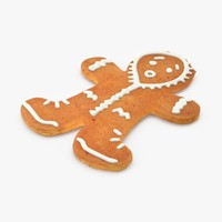 gingerbread man hood 3d max