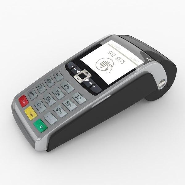 pos payment terminal 3d max