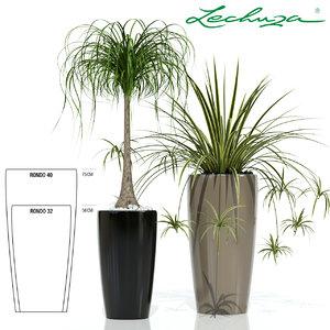 plants lechuza rondo 3d model