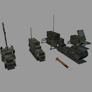 mim-104 patriot 3d max