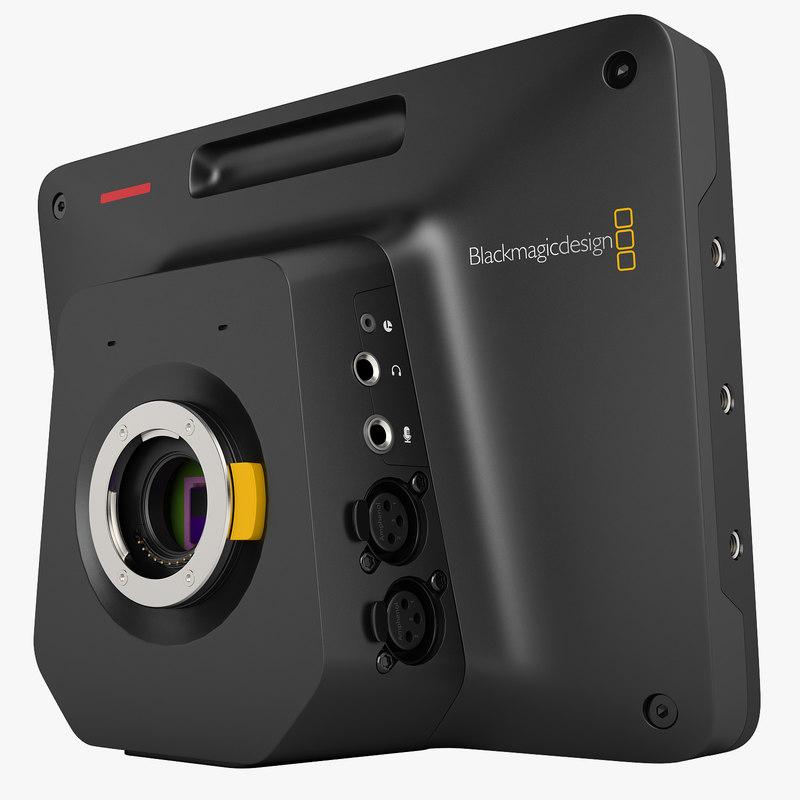 3ds blackmagic studio camera