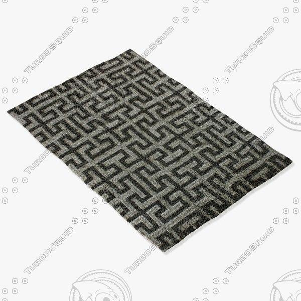 3d amara rug smart dm-silver model