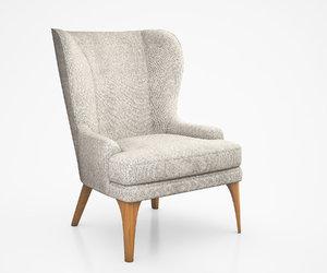 3d model owen wing chair