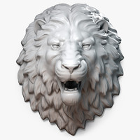 Lion Head Sculpture Aggressive