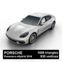2016 porsche panamera ehybrid 3d 3ds