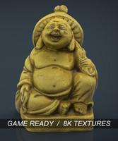golden buddha 3d max