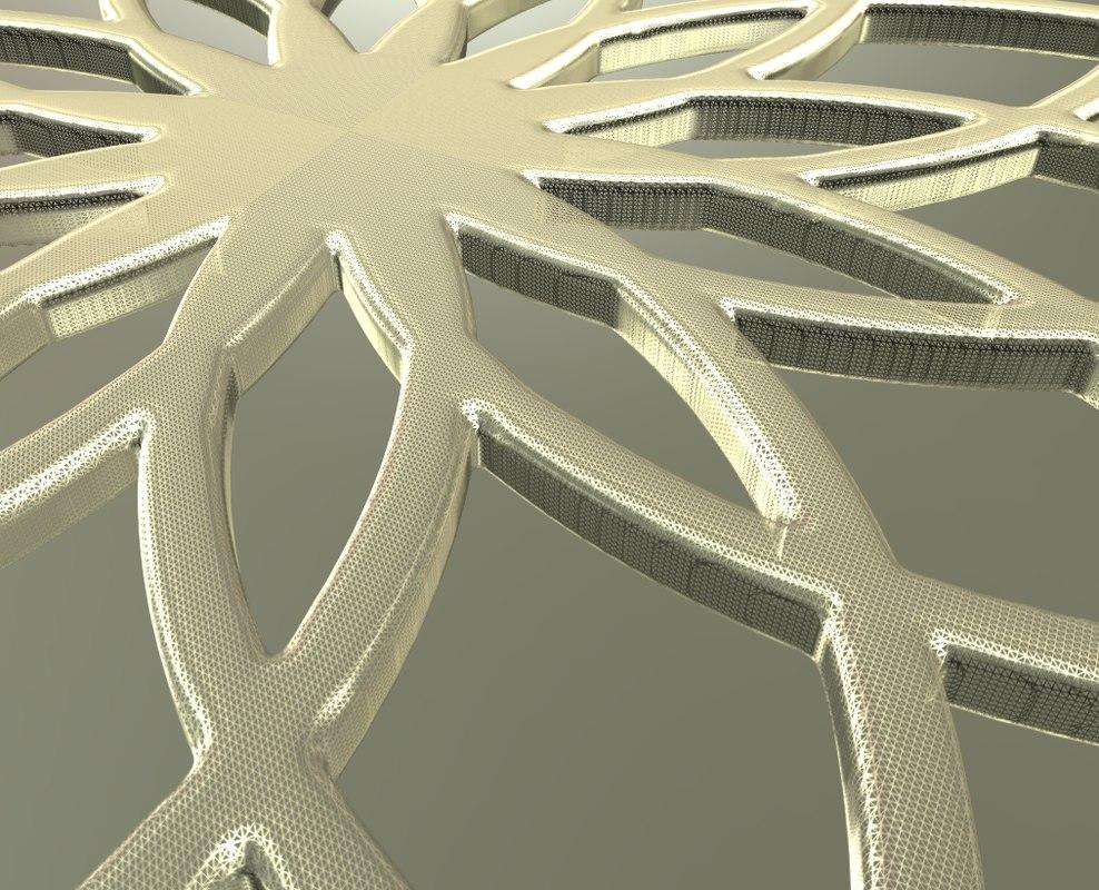 radial symmetry 3d model