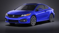 3d model honda civic 2015