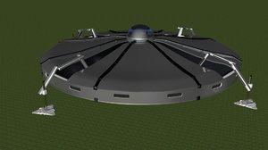 flying saucer 3d c4d