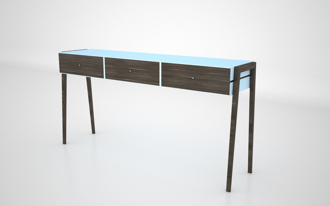 wood table 3d 3ds